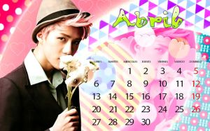 Calendario Sehun Abril by RainboWxMikA