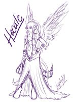 Hecate Sketch by Xappho