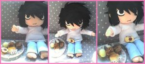 L and his sweets by VioletLunchell