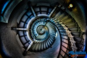 Ponce Inlet Lighthouse Spiral by Poslla28