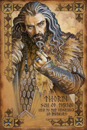 Hobbit Illumination: Thorin, vengeance of Dwarves by BohemianWeasel