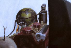 painted still life by hobophonics