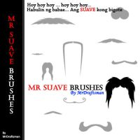 Mr Suave Mustache Brushes by MrDraftsman