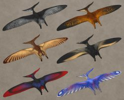 Evosaur art - Customization - Pteranodon Male by mrXylax