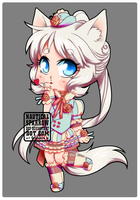 Blows a kiss - auction chibi example by NauticalSparrow
