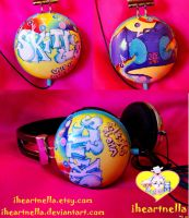 Graffiti Skittles Headphones by Iheartnella