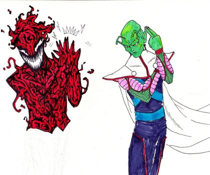 Joker + Carnage     Piccolo + Martian Manhunter by Escape-to-darkness