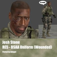 Josh Stone RE5 BSAA Uniform (Wounded) by Adngel