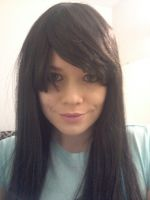 how i look with a black wig by BubblegumGirl22