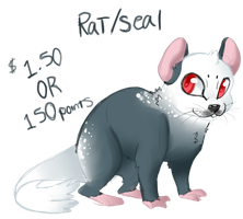 Sketchy Adopt 3: Rat/Seal CLOSED by Night-Wolf122