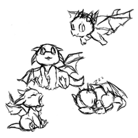baby dragon sketch dump by Arcane-Panda