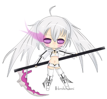 White Rock Shooter Chibi by Minuet-Melody