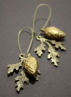 Oak + Acorn in Brass by Brillville