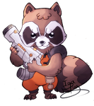 Rocket Racoon by IzaPug