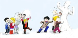 snow fight by natale