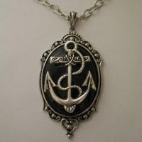 ANCHOR Cabochon Necklace by Horribell-Originals