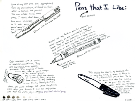 Pens that I like by wekkity