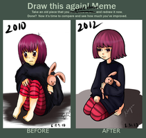 Meme: Before and After by xBeyzax