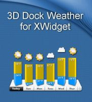 3D Dock Weather for xwidget by jimking