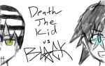 Death the Kid VS Black*Star: WIP by NinjaGirlKikio