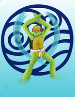 TMNT Avatar Series-Mikey: Water by FlashyFashionFraud