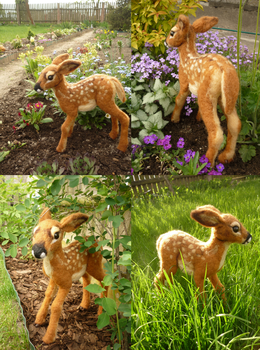 Needle Felted Fawn by Fumono