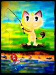 Meowth (request) by Barbarian--Warrior