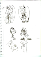 Matchu sketches (and also Phineas and Ferb) by LimeTH