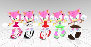 Amy costumes IF she was in Sonic rivals 2 by Oneirio