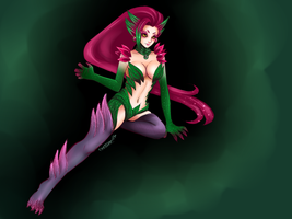 Zyra, Rise of the Thorns by Starry-Eyed-Neko