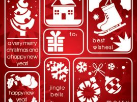 Christmas Elements by vectorbackgrounds