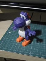 Purple Yoshi Papercraft by bslirabsl