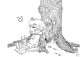 Chibi Gustave napping by Midniteoil-Burning