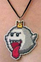 King Boo stitched necklace for ZIM402 by starrley