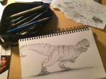 Abelisaurid Multi-media Sketch by BrooksLeibee