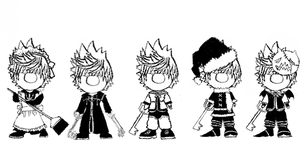 Roxas Moogles (Request) by Moogle007