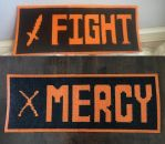 FIGHT and MERCY Button Perlers by UberNerd121