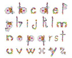 Rainbow Piglet Typography by IHaveSeenTheRain