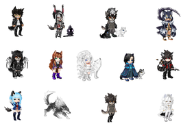 Adopt A Human OC Wolf Batch! by NomNomCookie123