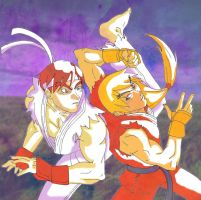 SF Alpha- Ryu vs Ken by YoaKeDAX