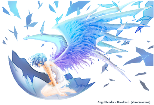 Anime Angel Recolored And Rendered. by ZeroTsukaima