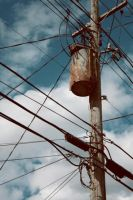 rusted metallic electricity by teaparty-trash