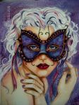 Masked Beauty by artwoman3571