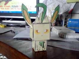 Leafeon cubee (photo) by klebers