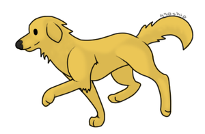 Golden Retriever Sticker by 490skip