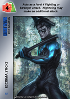 Nightwing Special - Escrima Sticks by overpower-3rd