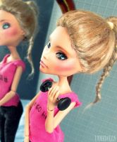 Gym Girl (OOAK Cleo de Nile - Customized MH doll) by Katalin89
