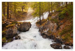 Cascade de Fontcouverte by Swordtemper