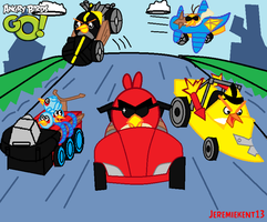 Angry Birds Go!.....is a kart racing game? by Jeremiekent13