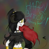 Happy Birthday Alteea!!!! :D by xxxRainbowkittyxx